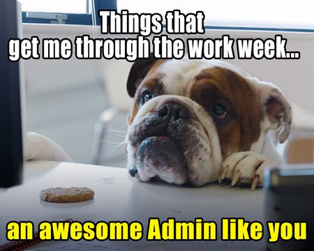 What Gets Me Through the Week Admin Day Ecard