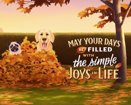 Simple Joys Thanksgiving Ecard