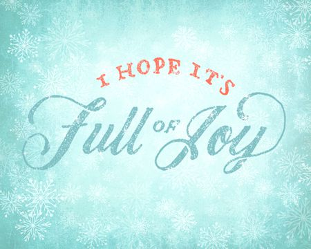 Full of Joy Holiday Ecard