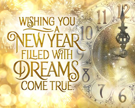 A New Year of Dreams Come True Ecard