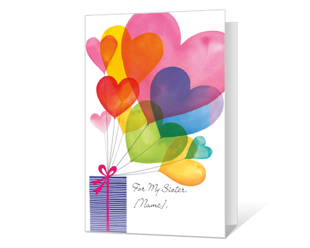 It is an image of Printable Birthday Cards for Sister regarding blue mountain