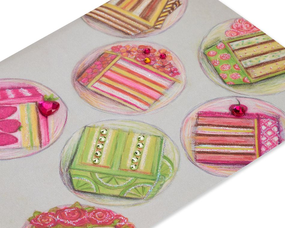 Cake Slices Birthday Greeting Card for Girlfriend - Designed by Bella Pilar