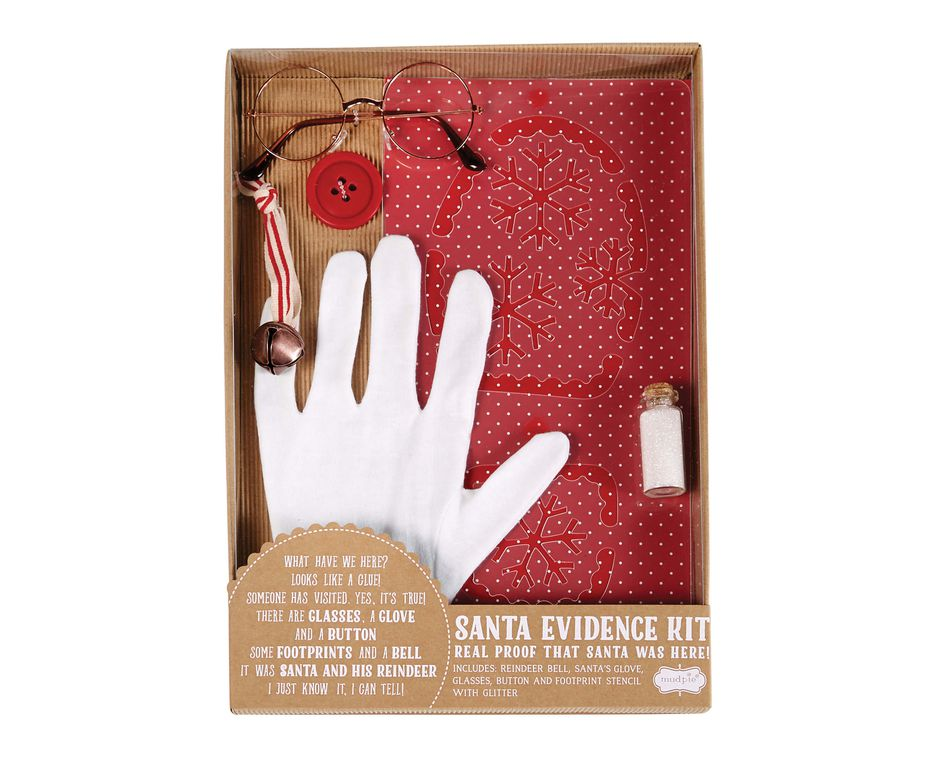 Mud Pie Christmas Santa Evidence Kit