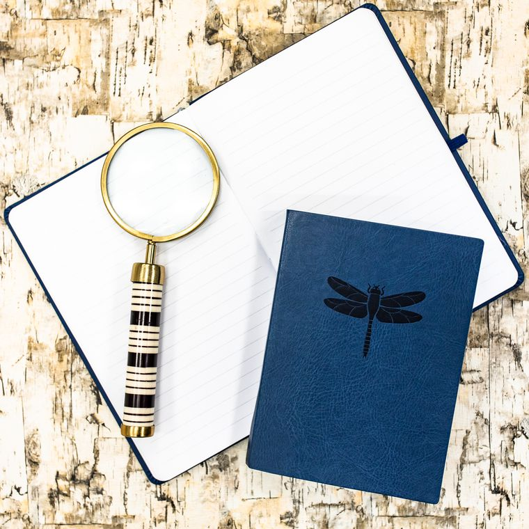 Eccolo Blue Dragonfly Essential Journal Lifestyle