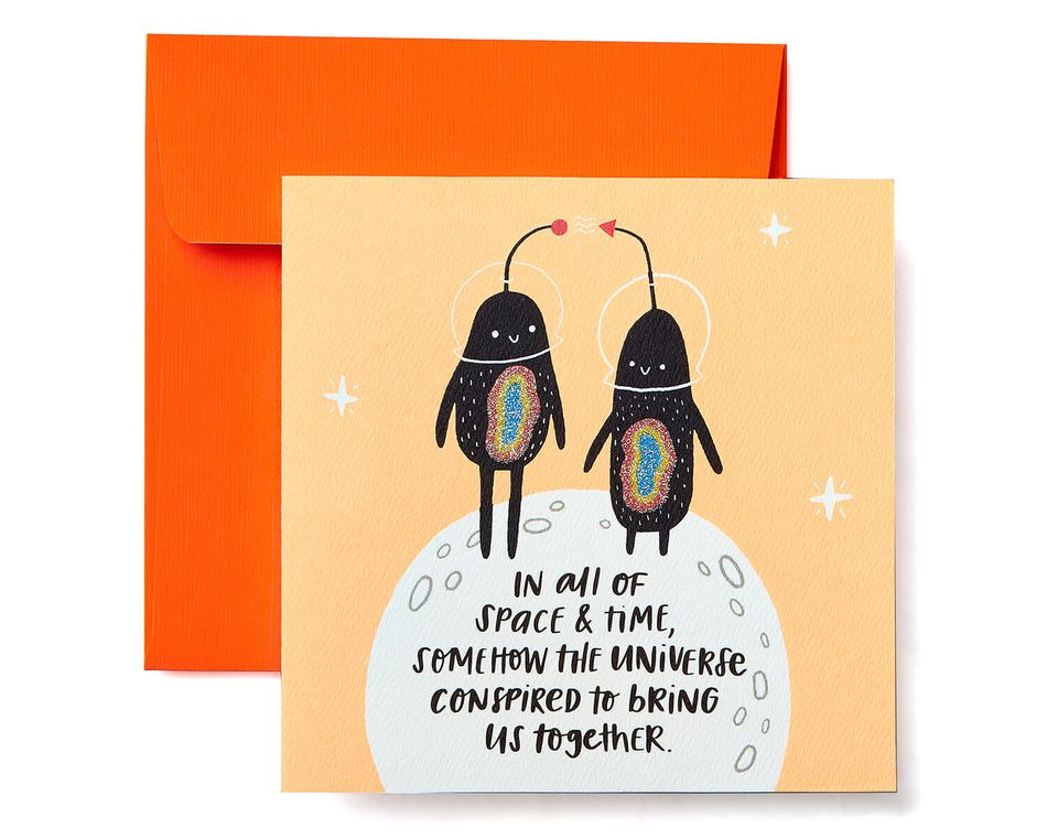 Universe Greeting Card - Romantic, Anniversary, Thinking of You