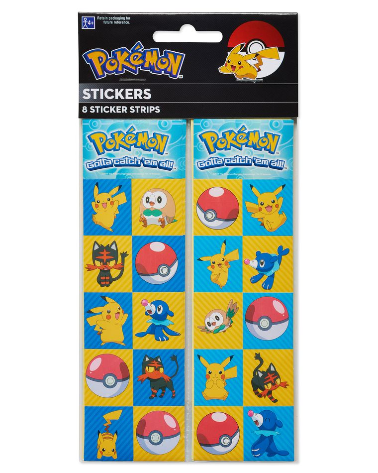 Pokémon Sticker Sheets, 8-Count