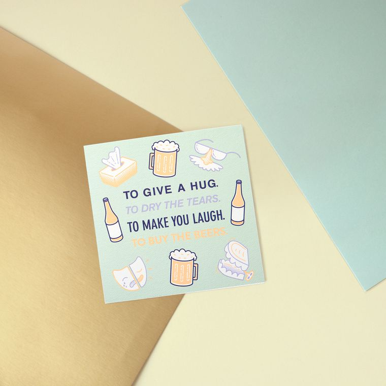 Hug Greeting Card - Support, Thinking of You, Encouragement