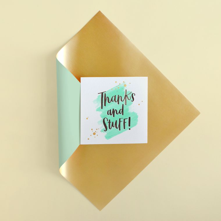 Thanks and Stuff Thank You Greeting Card