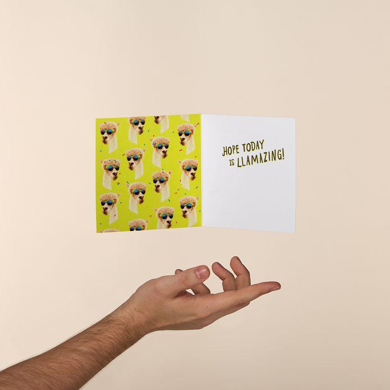 Llamas Greeting Card - Birthday, Thinking of You, Congratulations