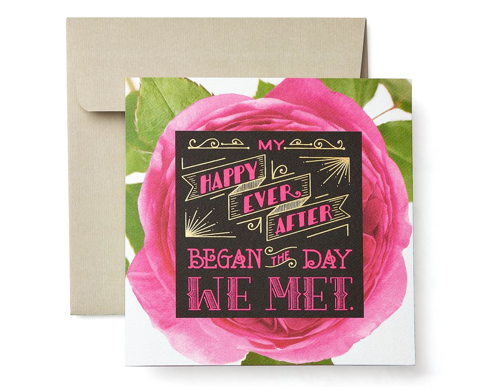 Love Story Greeting Card - Romantic, Anniversary, Thinking of You