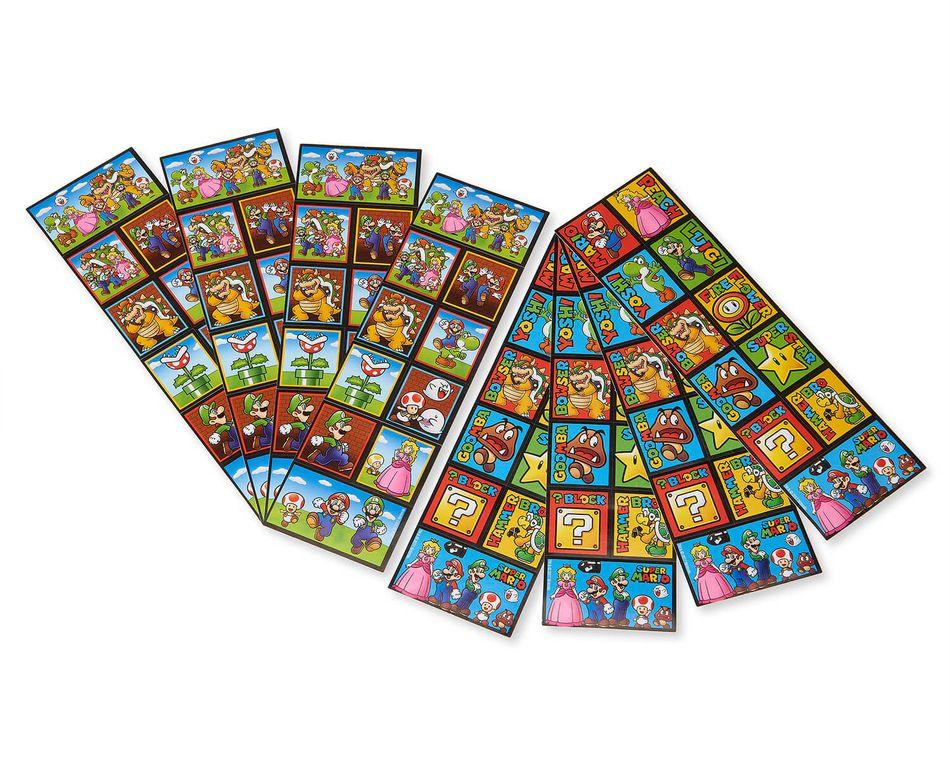 Super Mario Sticker Sheets, 8-Count