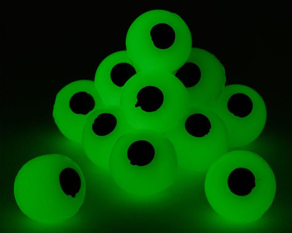 Glow-in-the-Dark Squishy Eyeballs, 12-Count