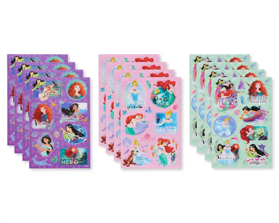 Disney Princess Sticker Sheets, 152-Count