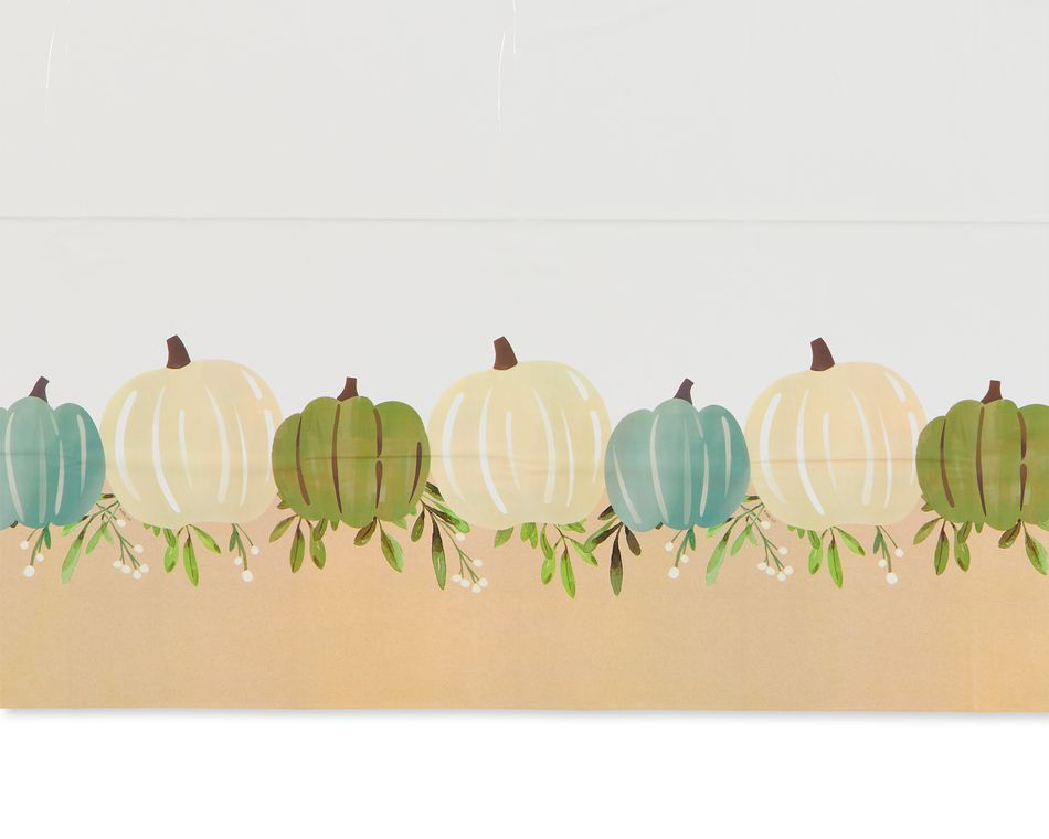 Thanksgiving Medley Plastic Table Cover, 54 in. x 96 in.