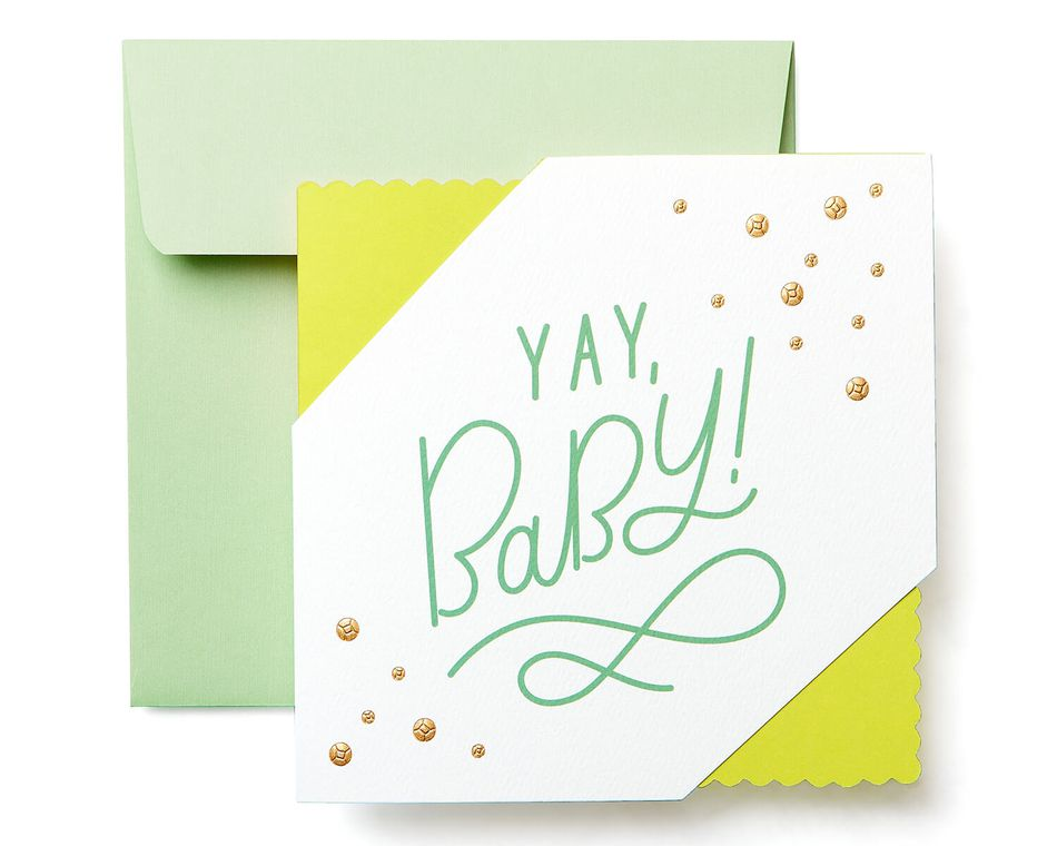 Yay New Baby Congratulations Greeting Card