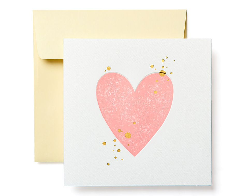 Heart Blank Card - Birthday, Friendship, Thinking of You, Anniversary, Wedding