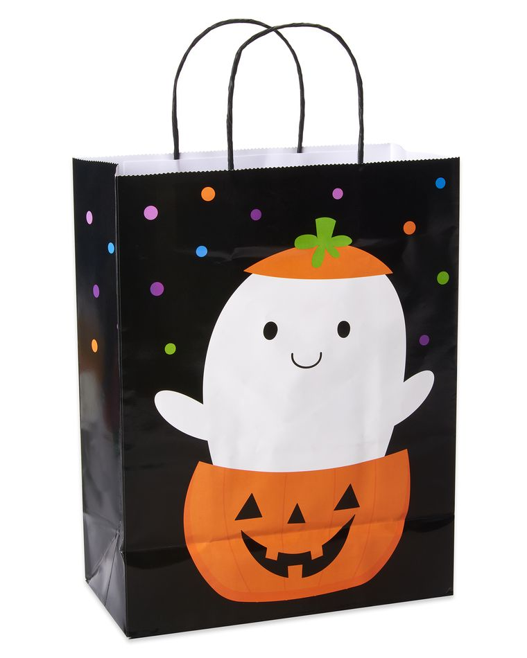 Ghost in Pumpkin Medium Halloween Gift Bag