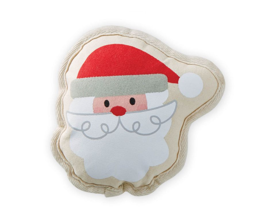 Mud Pie Santa Canvas Dog Toy