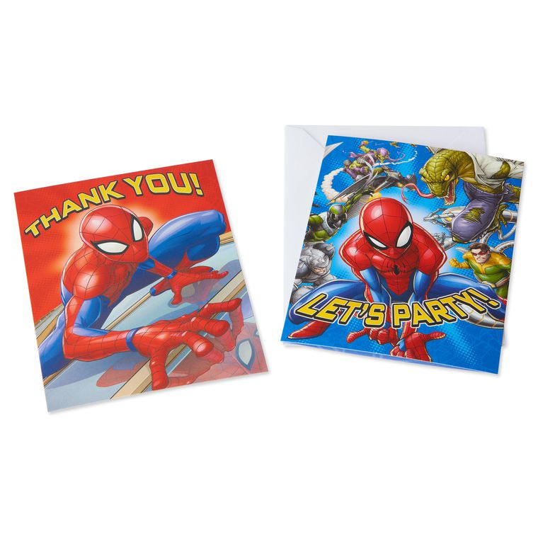 Spider-Man Invite and Thank-You Combo Pack, 8-Count
