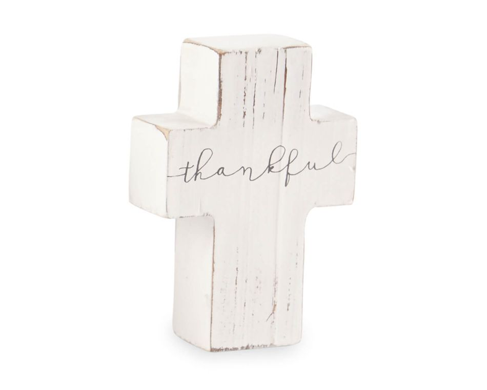 Mud Pie Thankful Cross