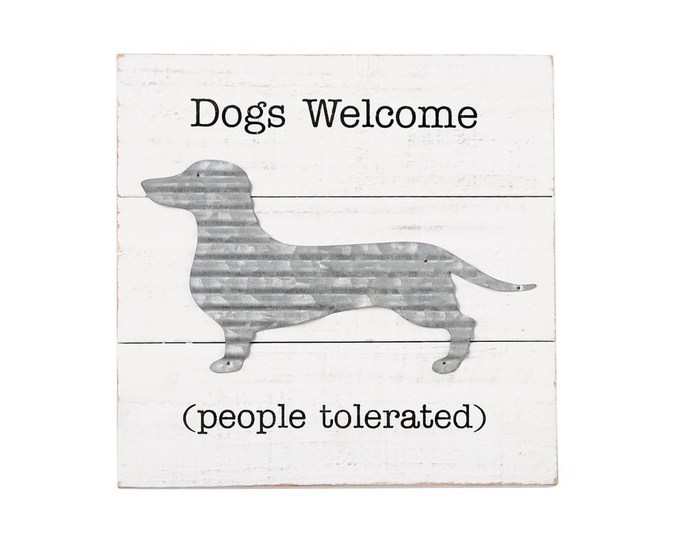Mud Pie Dog Welcome Plaque