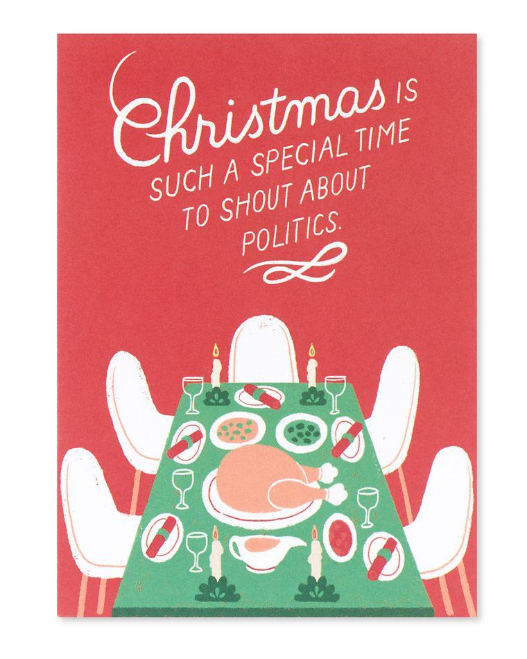shout about politics christmas card