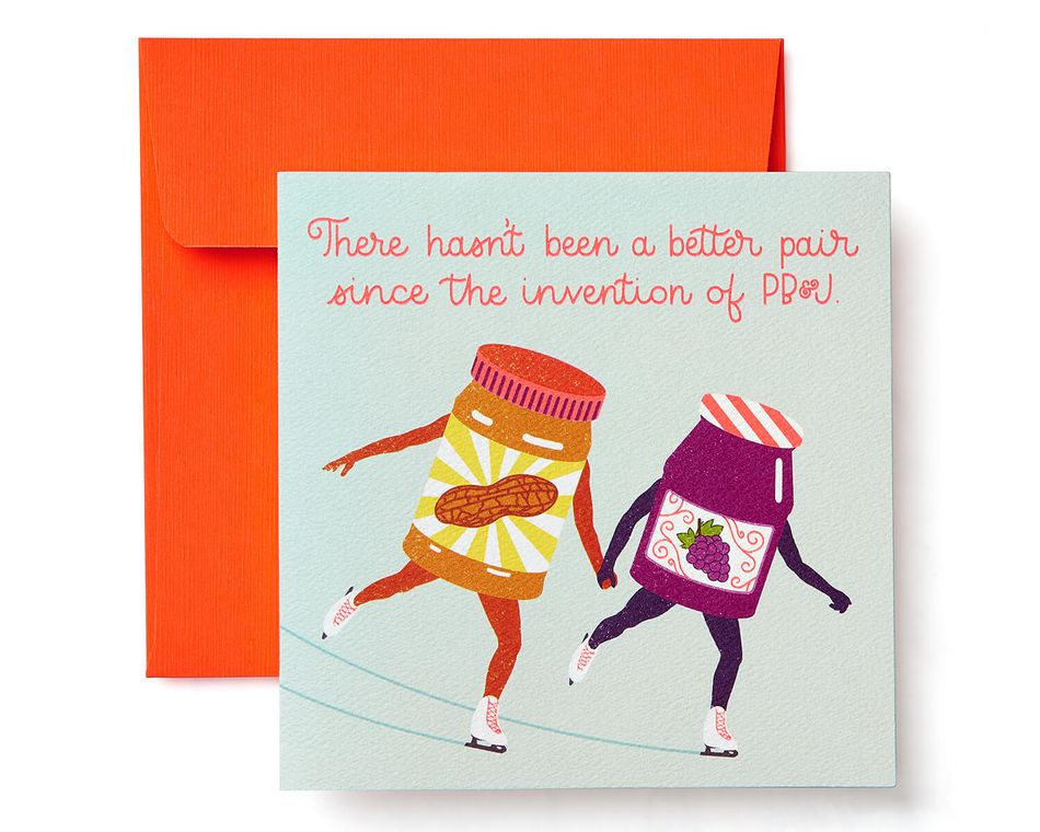 PB & J Greeting Card for Couple - Engagement, Wedding, Anniversary
