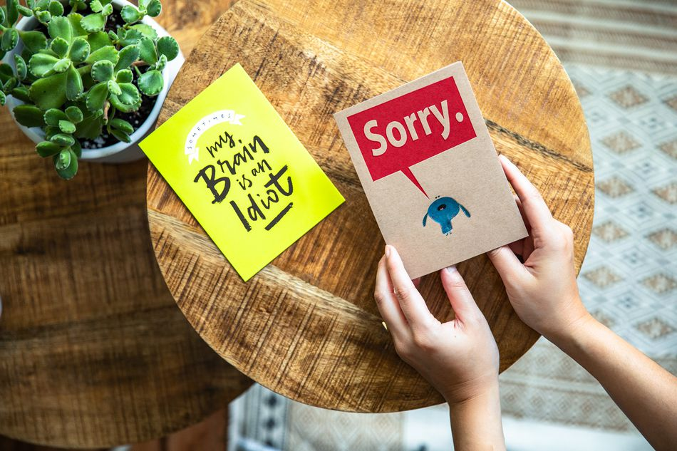 Forgive Me Apology Card Lifestyle Image