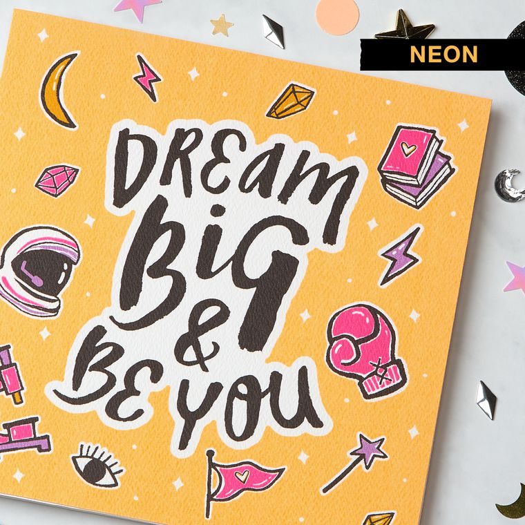Dream Big Greeting Card for Her - Birthday, Thinking of You, Encouragement, Congratulations