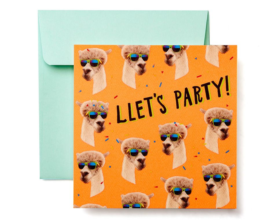 Llamas Greeting Card - Birthday, Thinking of You, Congratulations