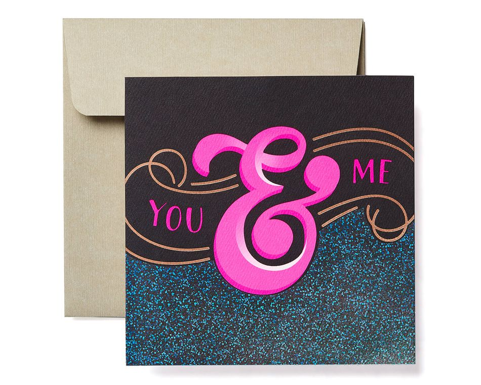 You & Me Greeting Card - Romantic, Thinking of You, Anniversary