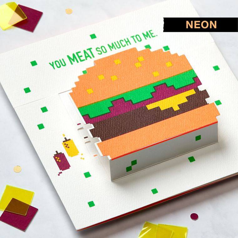 Hamburger Birthday Greeting Card