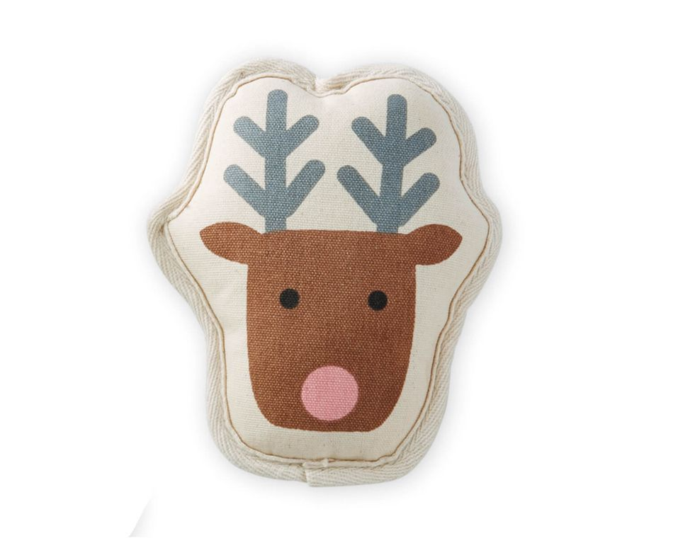 Mud Pie Reindeer Canvas Dog Toy
