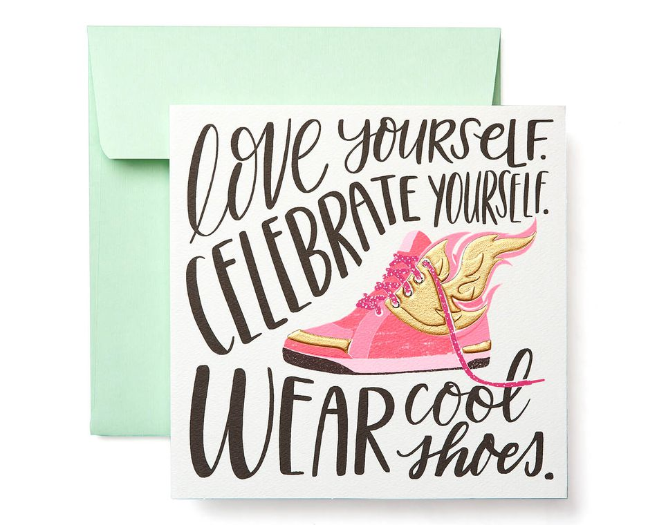 Cool Shoes Greeting Card for Her - Birthday, Thinking of You, Encouragement, Friendship