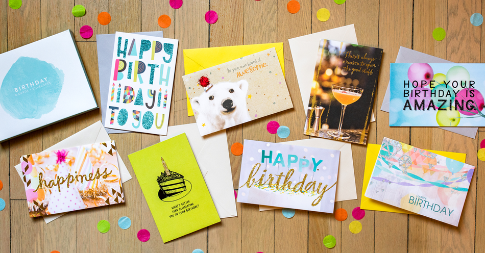 Bold Birthday Greeting Card Collection Lifestyle