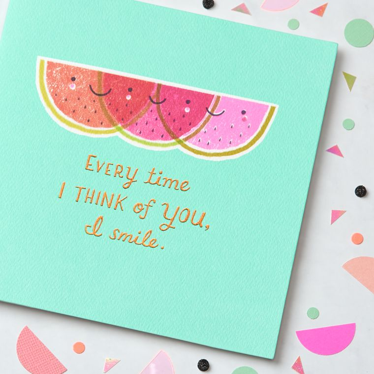 Watermelon Greeting Card - Birthday, Thinking of You, Encouragement