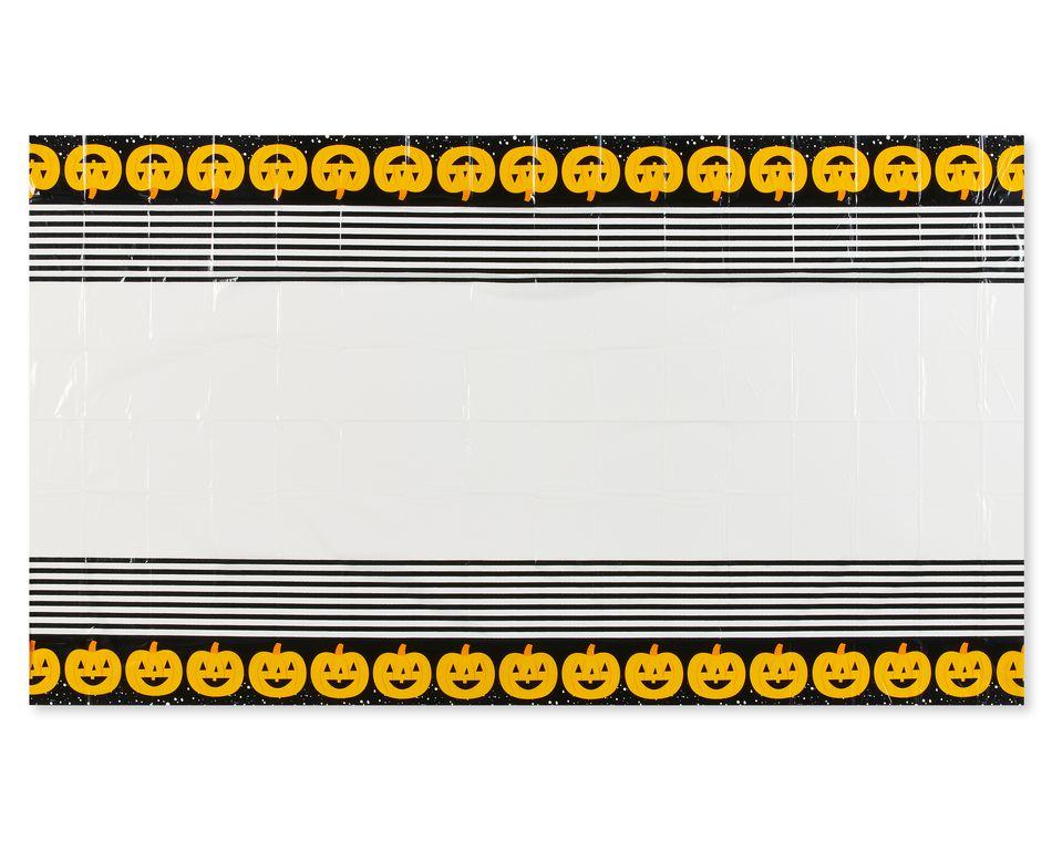 Black Plastic Table Cover, 54 in. x 108 in.
