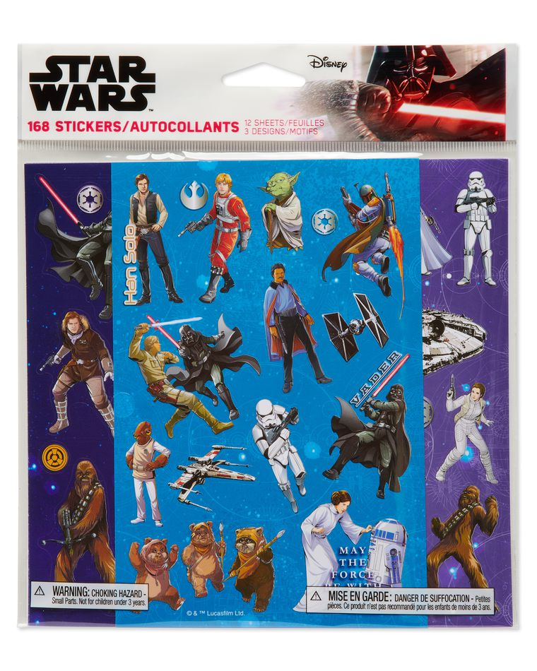 Star Wars Sticker Sheets, 168-Count