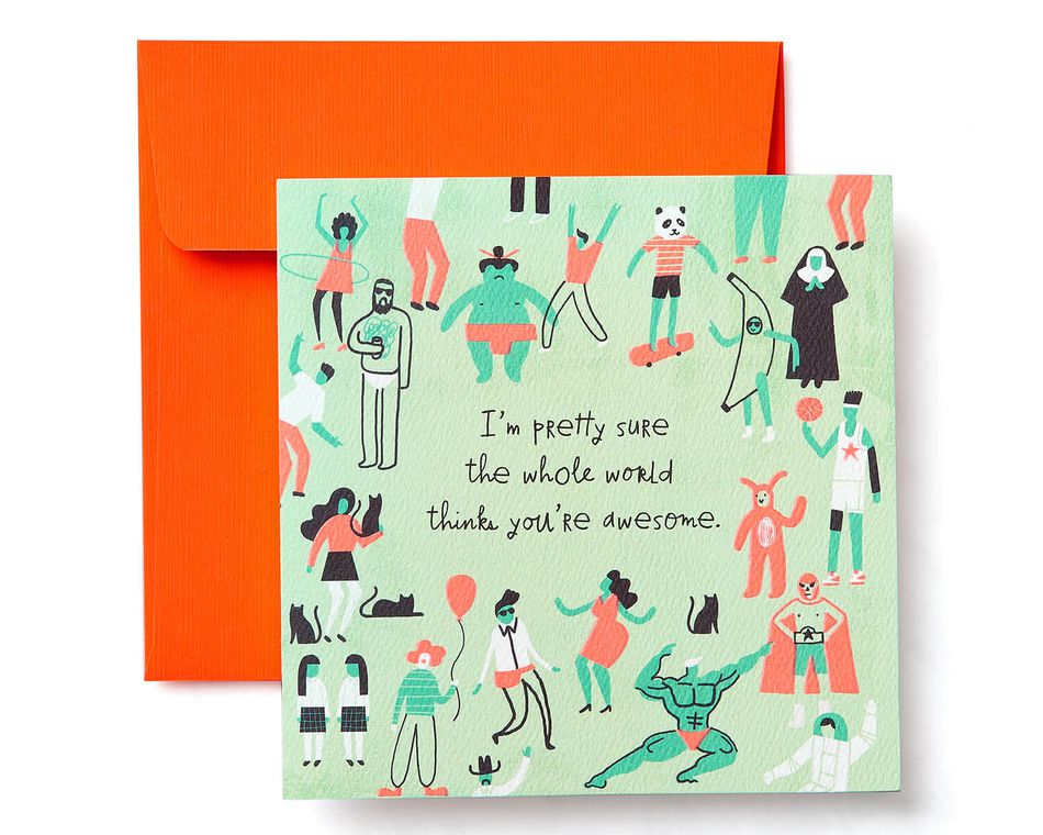 Awesome Greeting Card  - Birthday, Thank You, Thinking of You, Congratulations