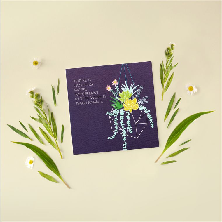 Family Greeting Card - Birthday, Thinking of You, Encouragement