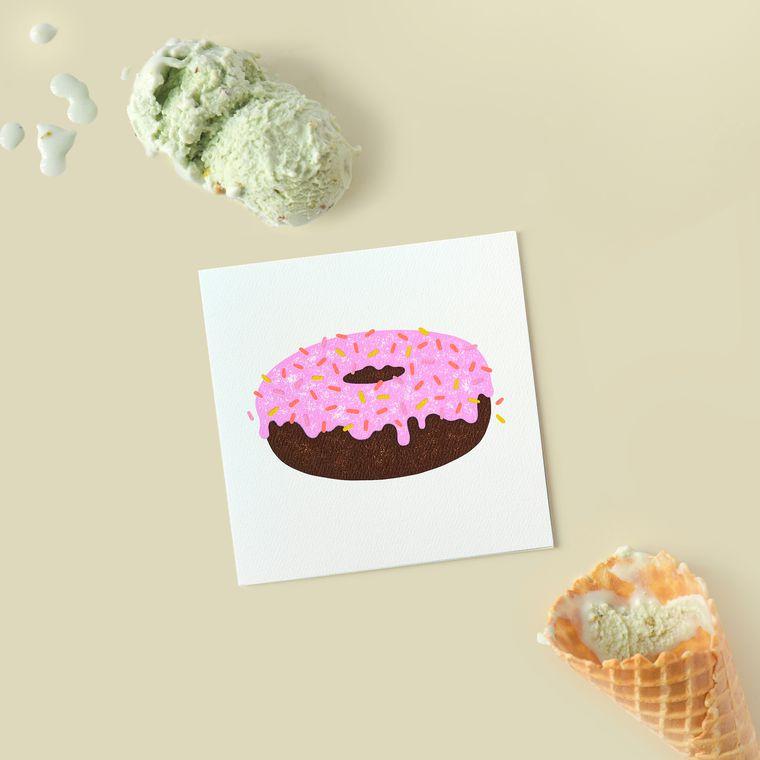 Doughnut Blank Card - Birthday, Friendship, Thinking of You