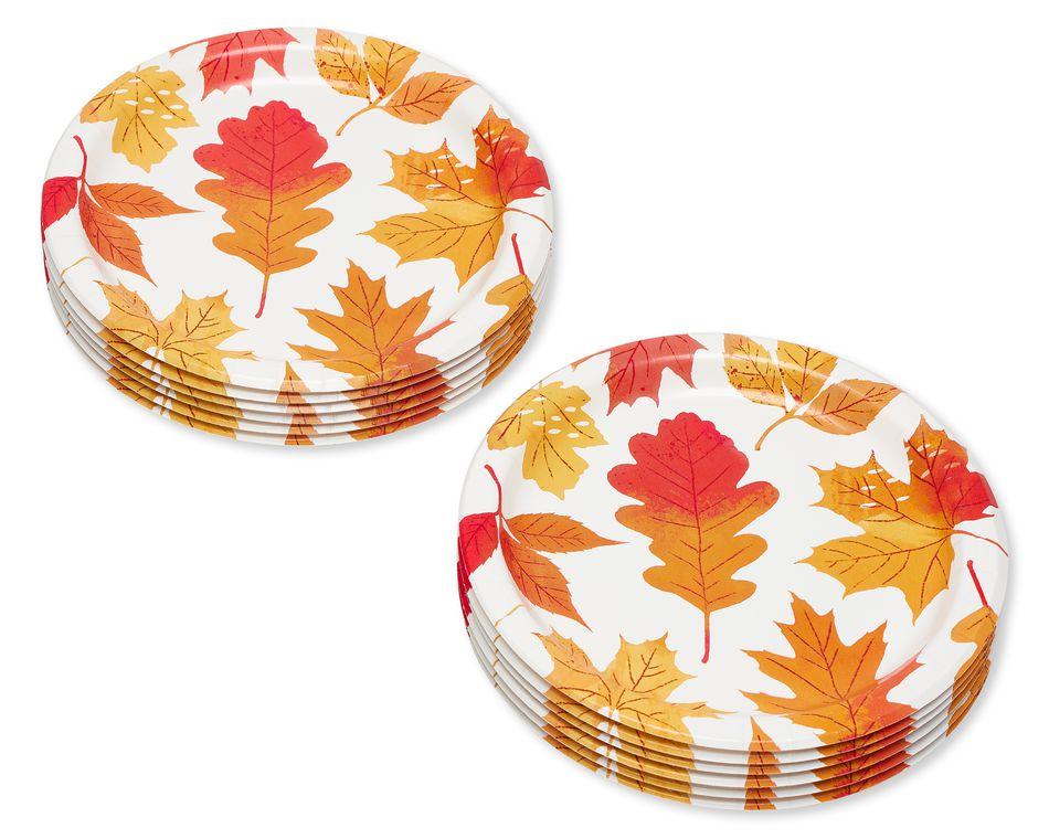 Autumn Days Paper Dessert Plates, 12-Count