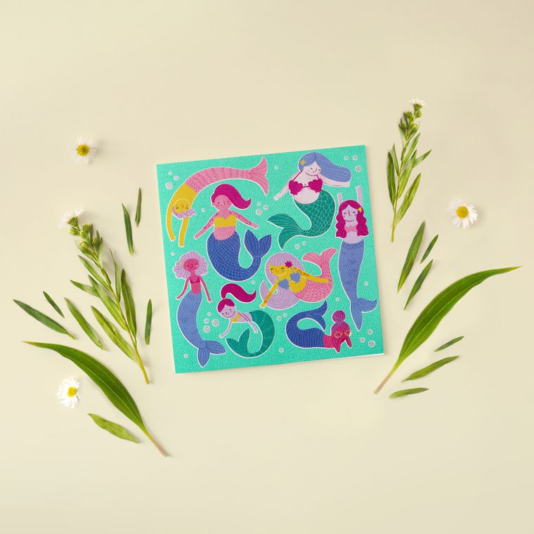 Mermaids Blank Greeting Card - Friendship, Thinking of You