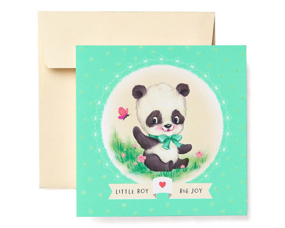 Panda new baby boy congratulations greeting card american greetings panda new baby boy congratulations greeting card m4hsunfo