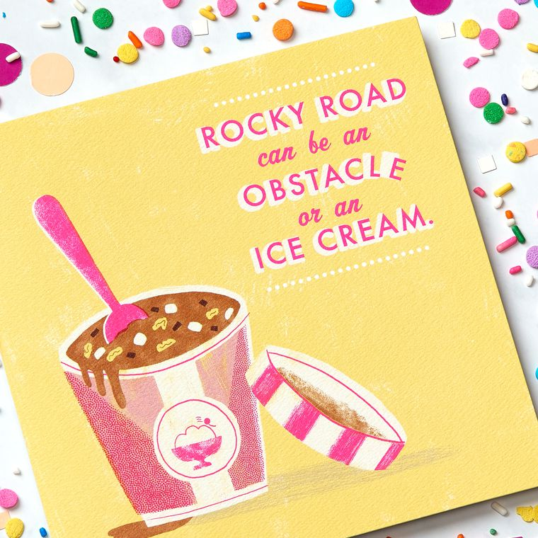 Rocky Road Greeting Card - Support, Thinking of You, Encouragement