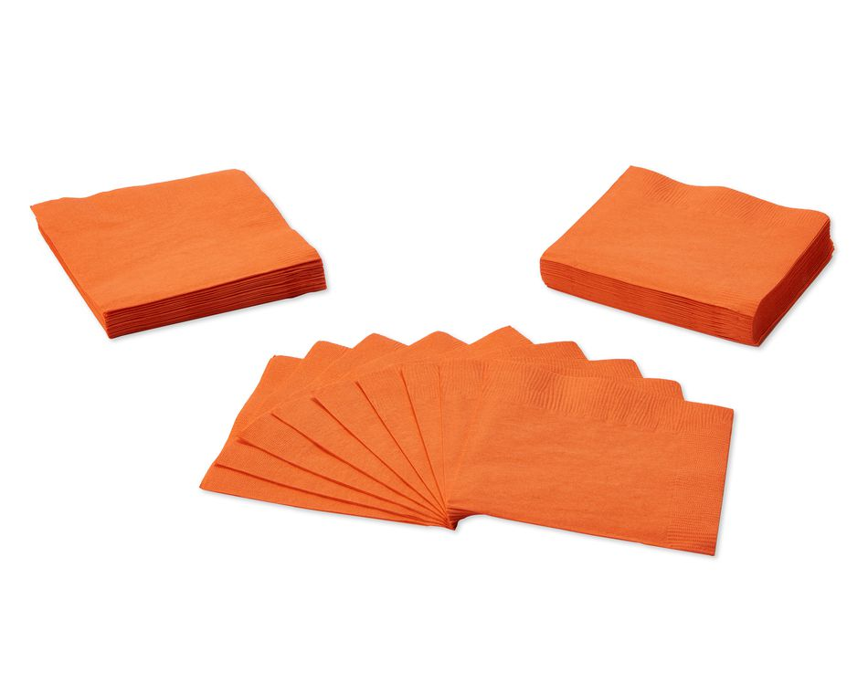 orange beverage napkins 50 ct