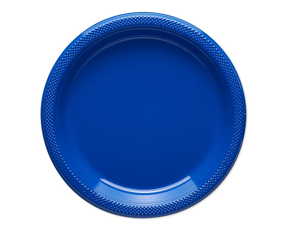 royal blue dessert plates 20 ct