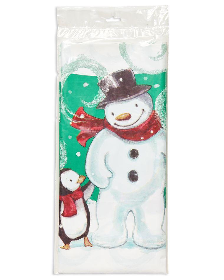 frosty friends plastic tablecover 54in x 102in