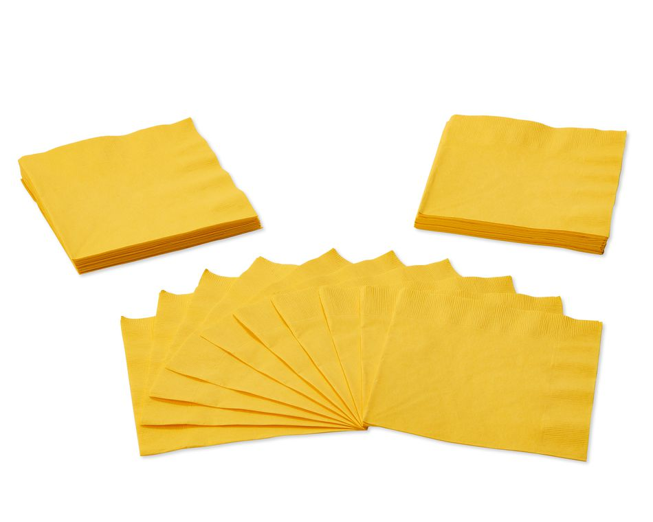 yellow lunch napkins 50 ct