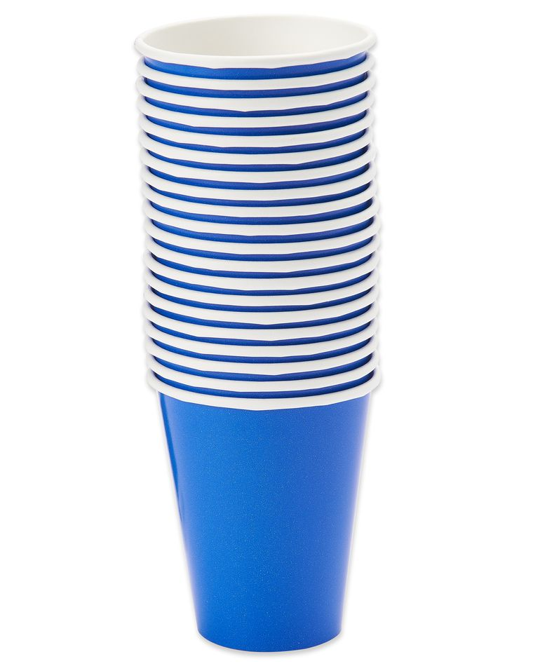 royal blue paper cups 20 ct